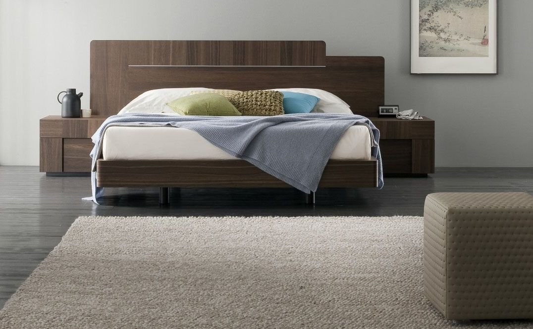 Lacquered made in italy wood and leather luxury platform bed with tufted headboa san diego - Luxury platform beds ...