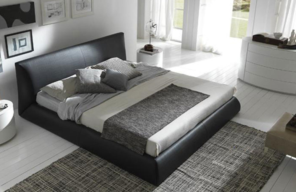 Made In Italy Leather Luxury Contemporary Furniture Set: Luxury Made In Italy Leather Elite Platform Bed New York
