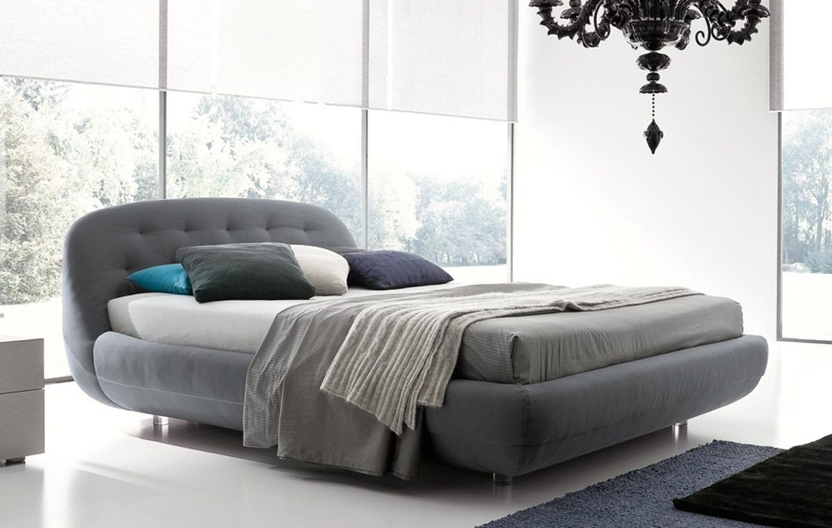 Made in italy nano fabric high end platform bed detroit for Bedroom set and mattress