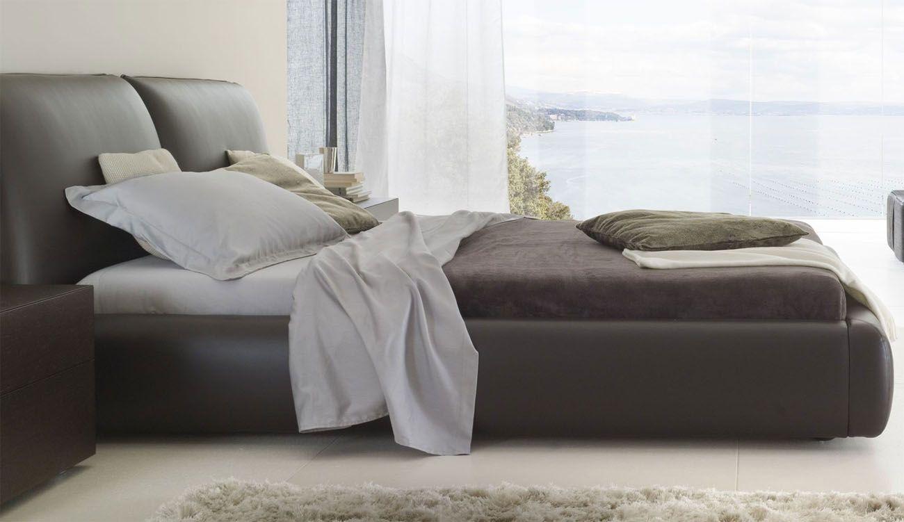 Made In Italy Leather Modern Platform Bed Denver Colorado