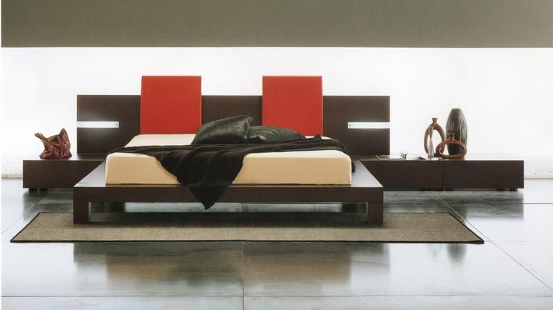 made in italy quality modern platform bed with drawers
