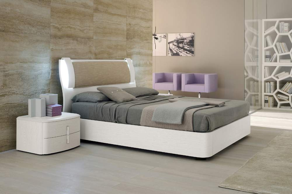 Lacquered made in italy leather luxury platform bed with extra storage louisville kentucky smaevita - Luxury platform beds ...