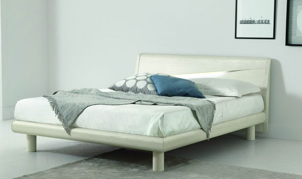 Made In Italy Wood High End Platform Bed With Extra