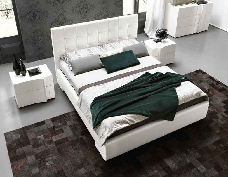 made in italy leather modern platform bed with optional storage san diego california vsmapre. Black Bedroom Furniture Sets. Home Design Ideas