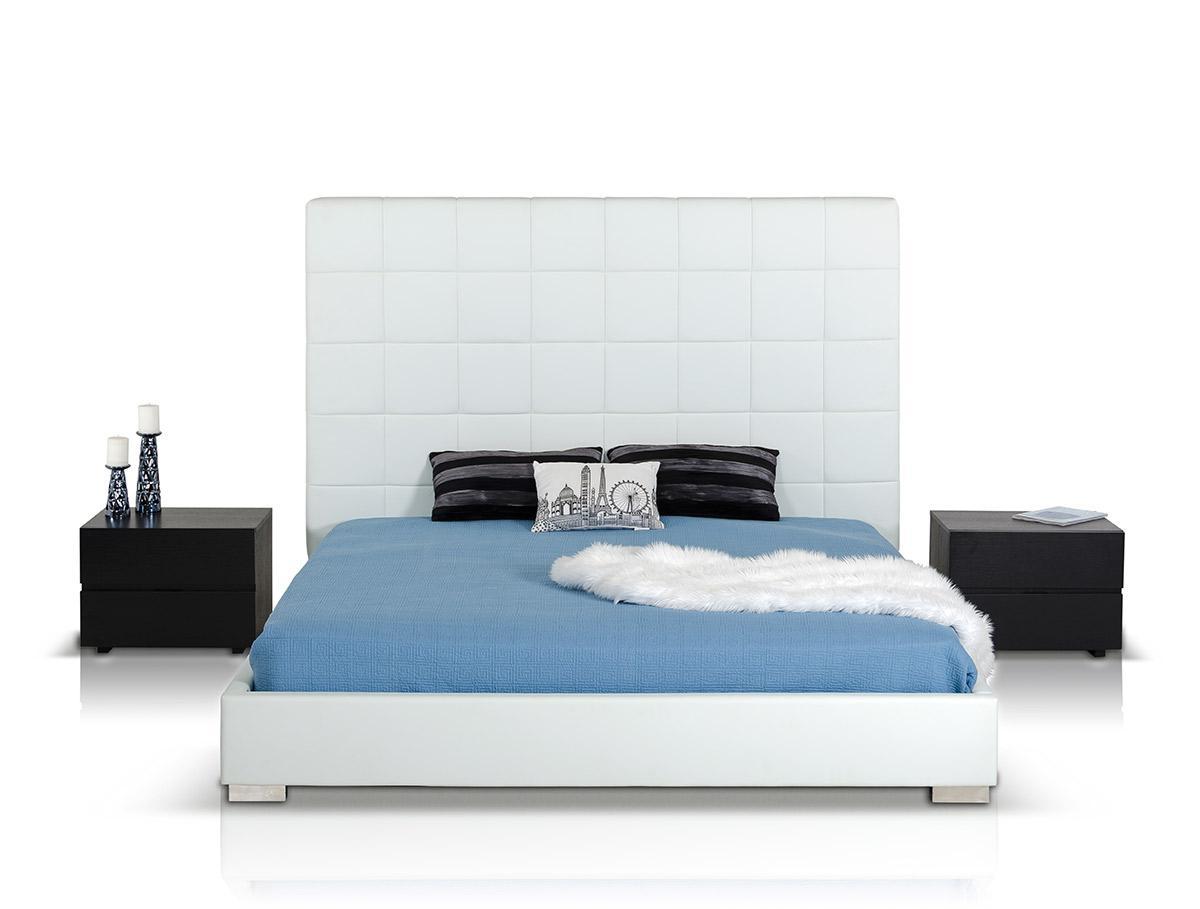 Unique leather luxury platform bed with optional drawers for Unique platform beds