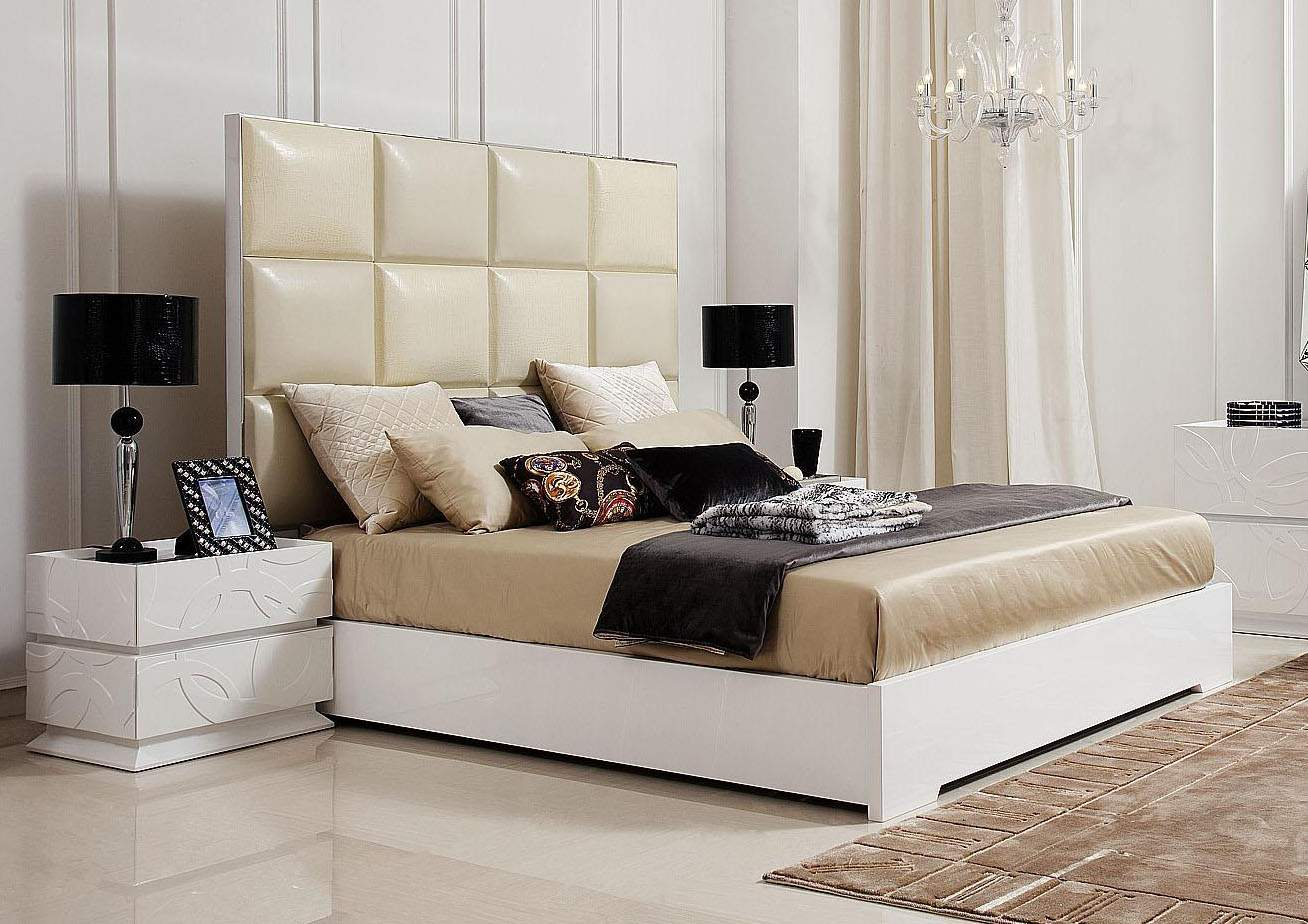 Made in italy leather luxury platform bed oakland california v8c004 No dresser in master bedroom