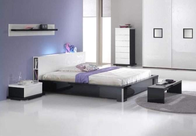 Modern Platform Bed with Storage 672 x 468