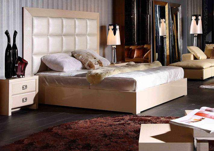 Unique leather high end platform bed houston texas vglam for Cool high beds