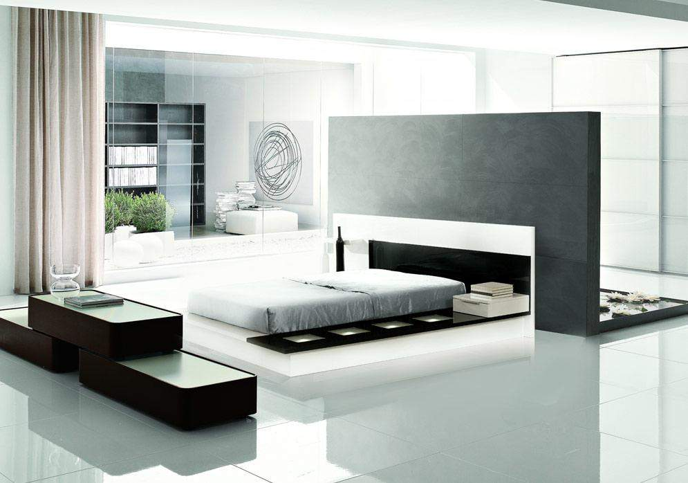 Lacquered elegant quality high end platform bed san for Elegant white bedroom furniture
