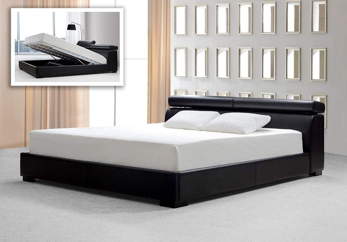 Leather Platform Bed : Modern Platform Beds, Master Bedroom Furniture