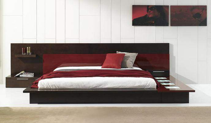 Contemporary Platform Bed with Lights 689 x 401