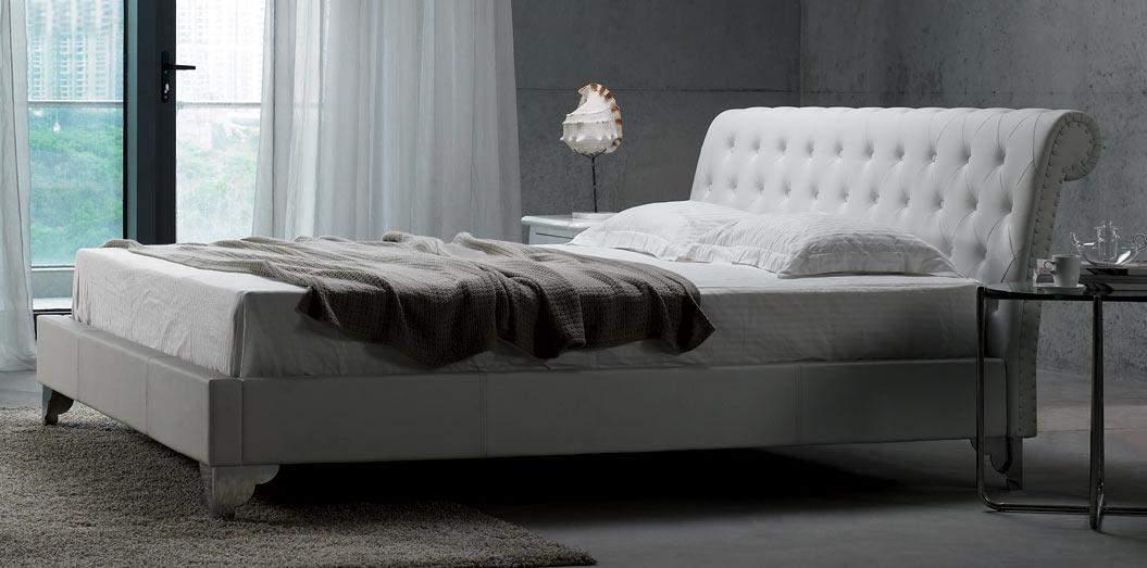 Unique leather high end platform bed new york new york vsre for Unique platform beds