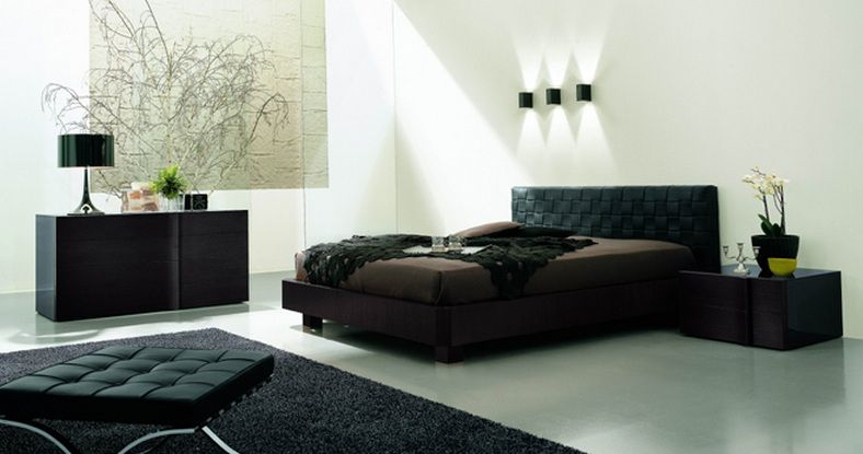 Made In Italy Leather Luxury Contemporary Furniture Set: Made In Italy Leather Modern Platform Bed Springfield