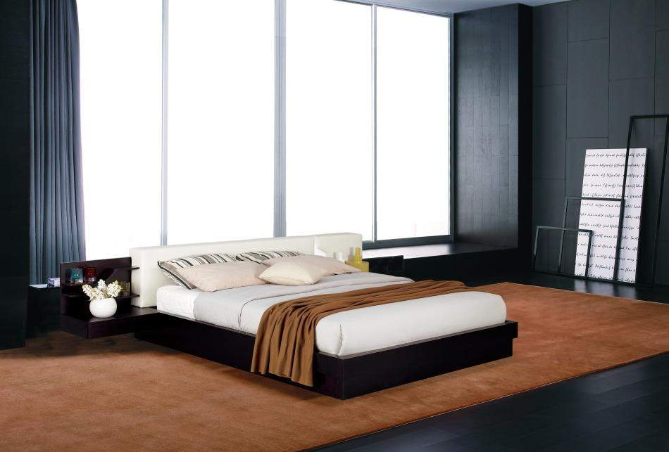 Extravagant wood modern platform bed with extra storage st Modern platform beds