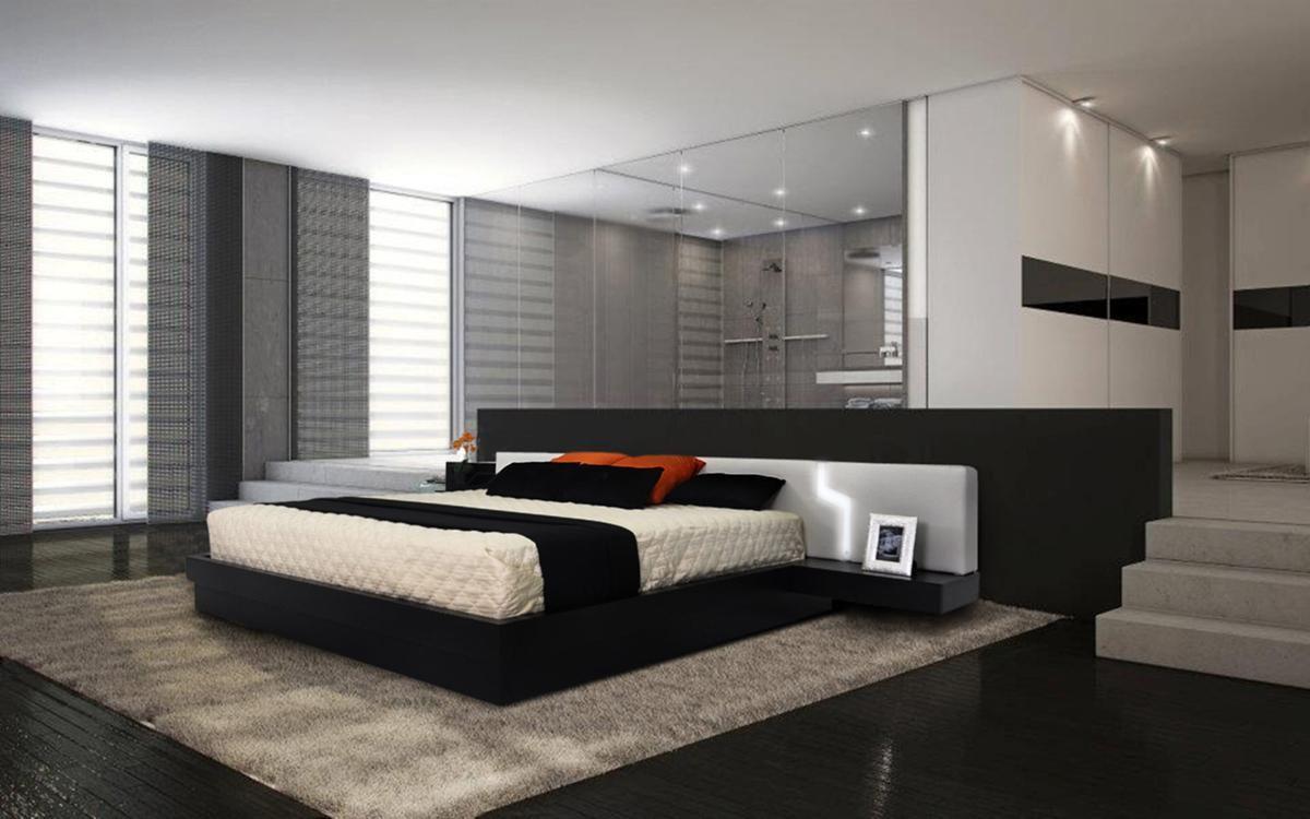 Extravagant Wood Modern Platform Bed With Extra Storage St
