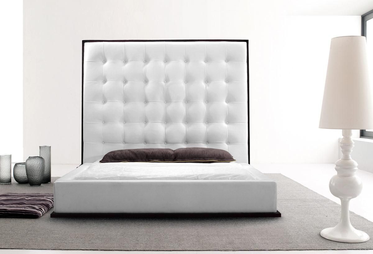Exquisite leather luxury platform bed boston massachusetts Jewish master bedroom two beds