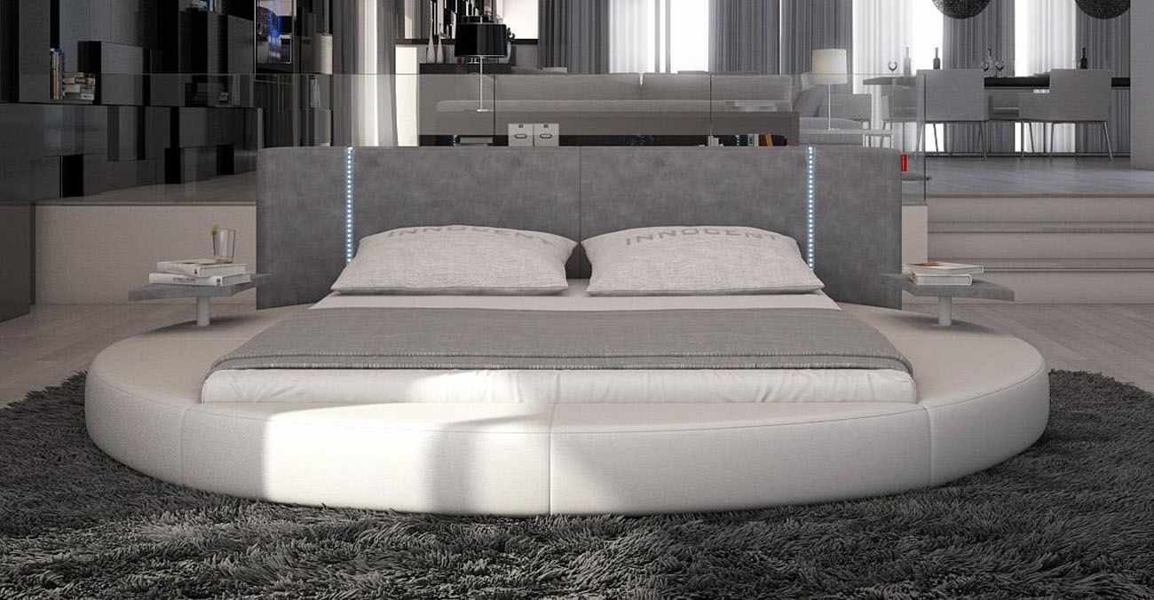 Stylish leather elite platform bed washington dc v rotondo for Stylish modern furniture