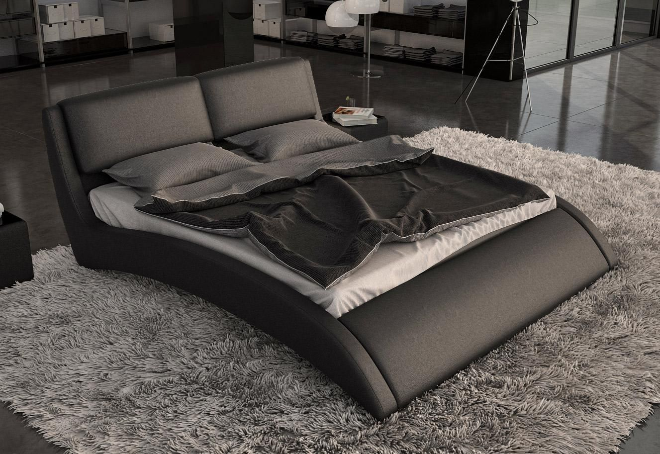 modern black bed leather modern platform bed el paso vvol 12539