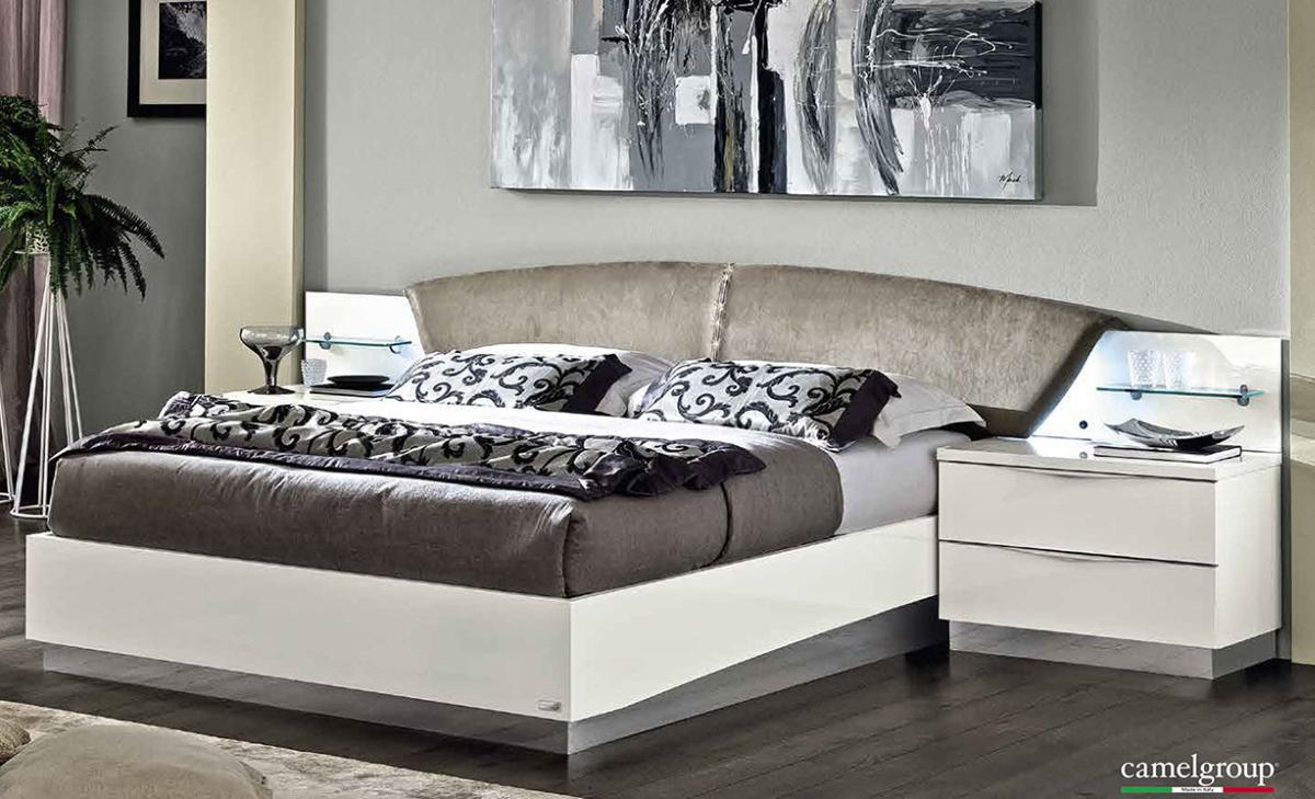 Lacquered made in italy wood luxury platform bed nashville Luxury wood furniture