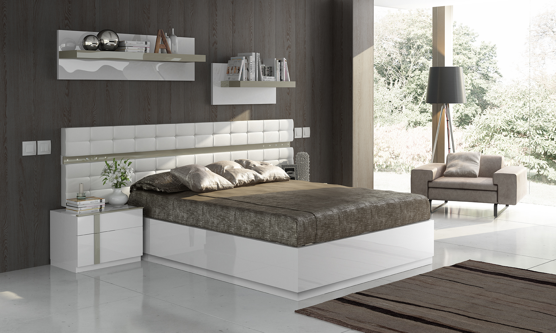 made in spain wood high end platform bed with extra storage rh primeclassicdesign com
