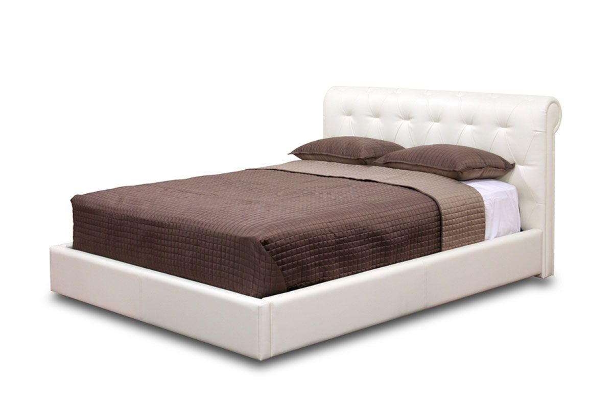 Exotic leather platform and headboard bed san antonio for Modern bed images