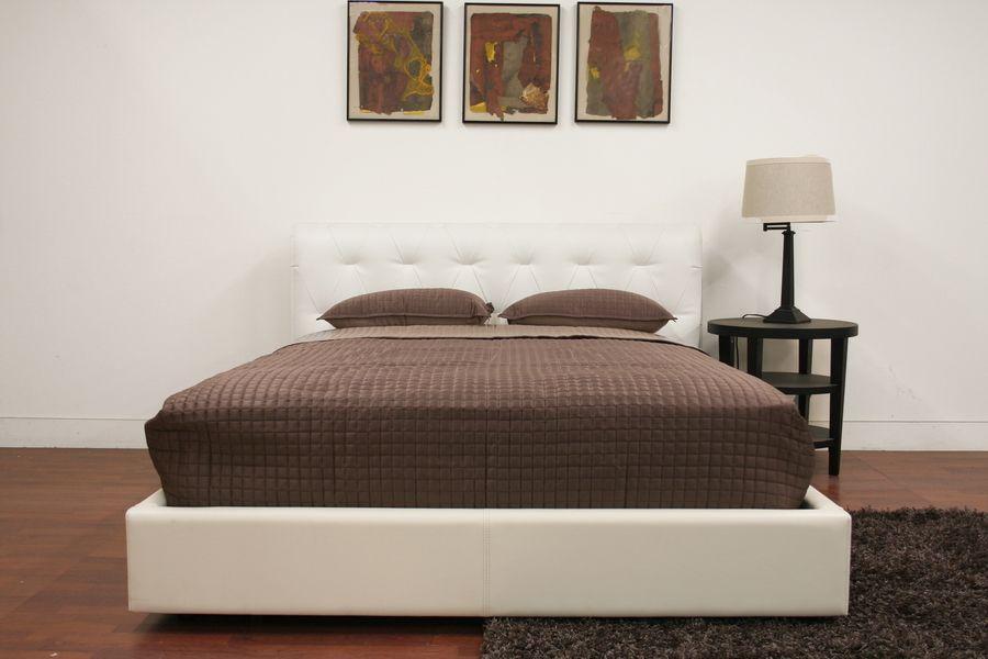 Exotic Leather Platform And Headboard Bed San Antonio