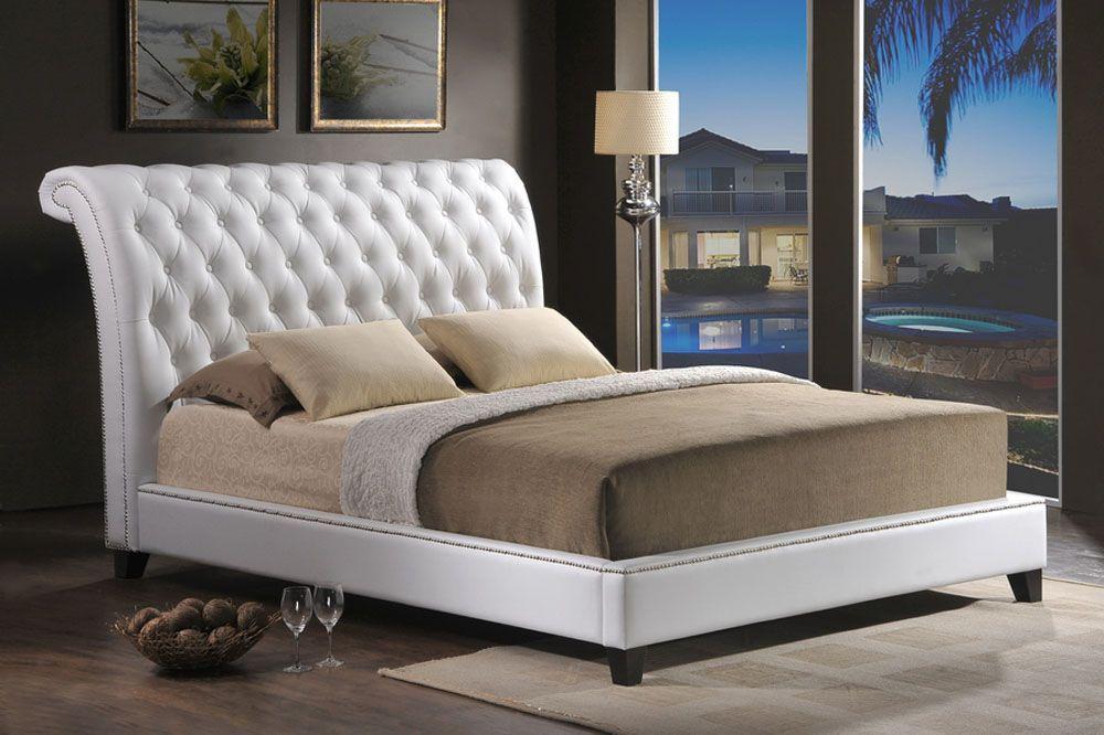 Elegant leather luxury platform bed detroit michigan wsijaz - Luxury platform beds ...