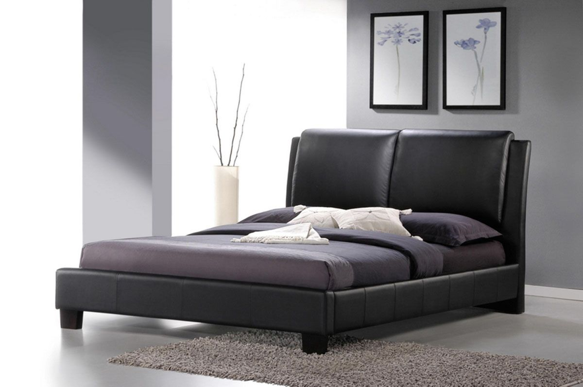 Leather Platform Bed : Refined Leather Modern Platform Bed Jacksonville Florida WSISAB