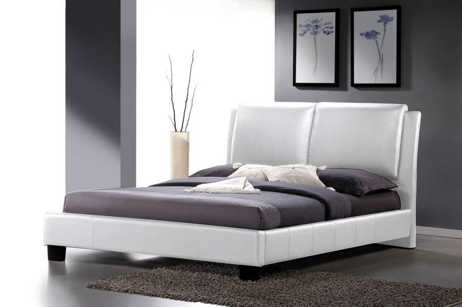 Refined Leather Modern Platform Bed Jacksonville Florida