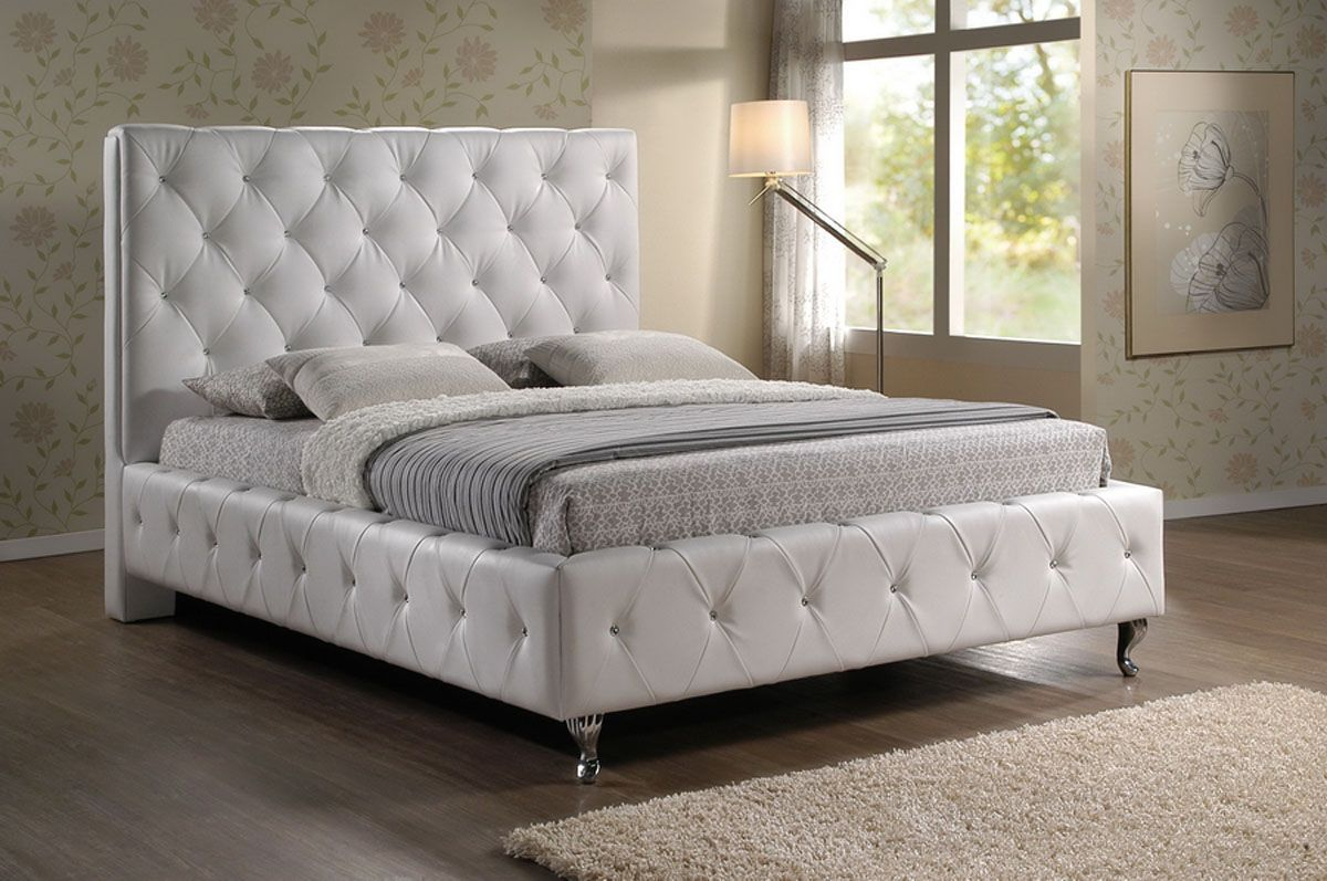 Refined leather modern platform bed columbus ohio wsiste Modern platform beds