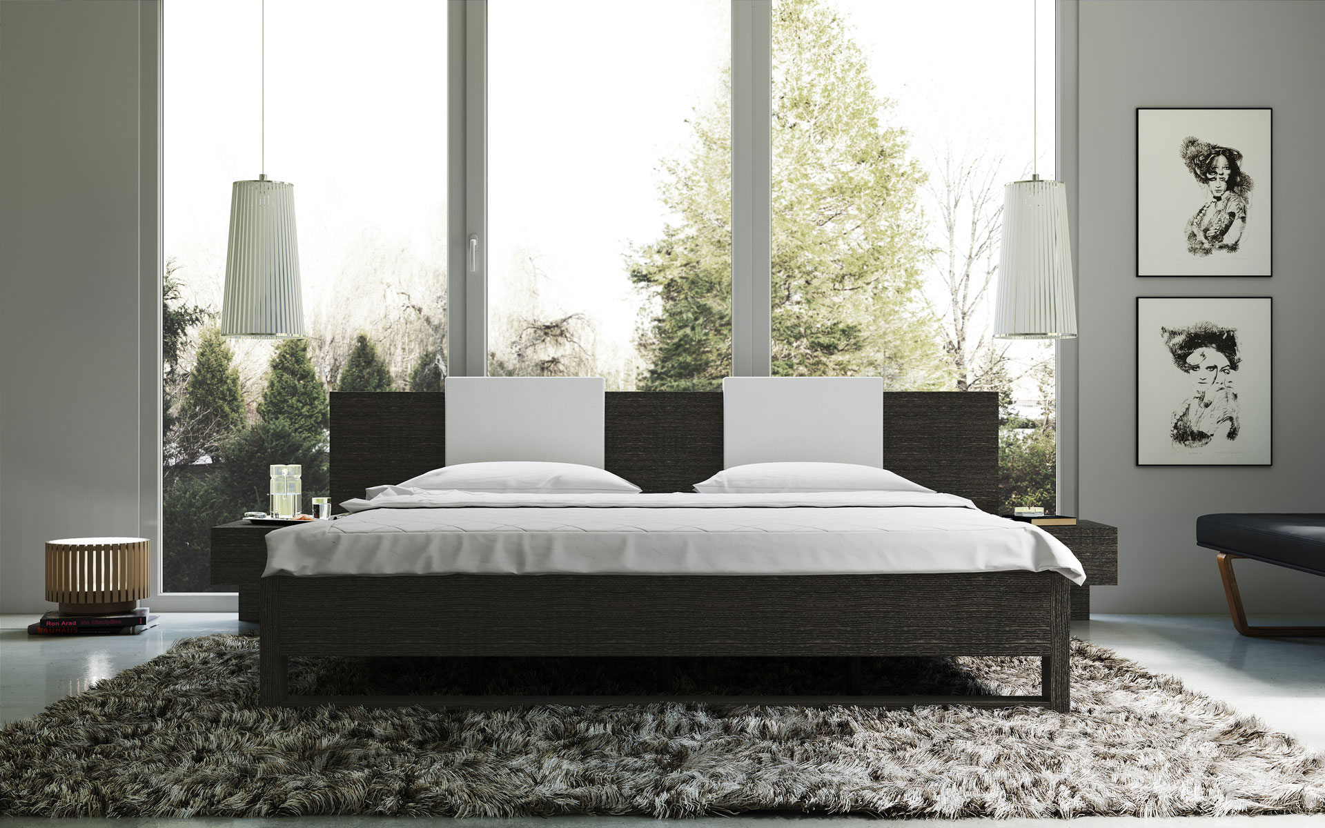Modern Platform Beds Master Bedroom Furniture Elegant