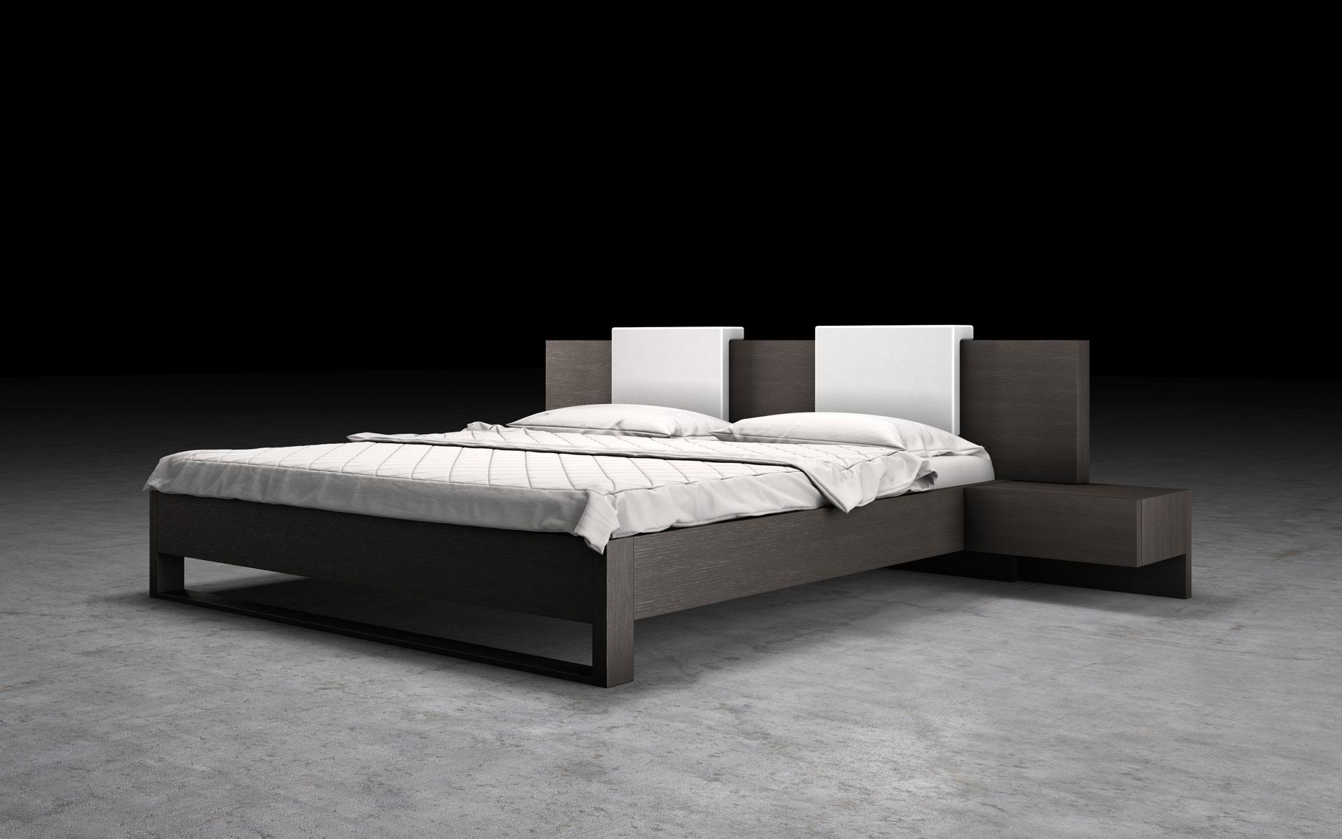 Elegant Leather Elite Platform Bed Stockton California Mlmd316