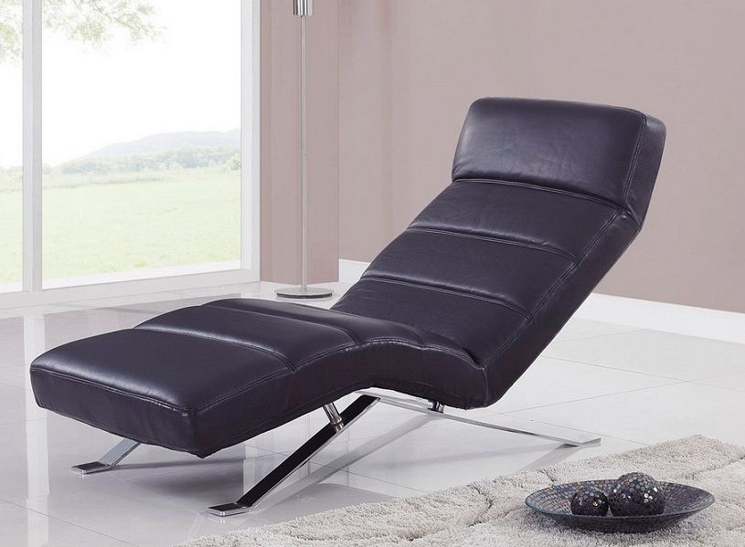 Relax chaise with metal feet and color options washington for Chaise design colore