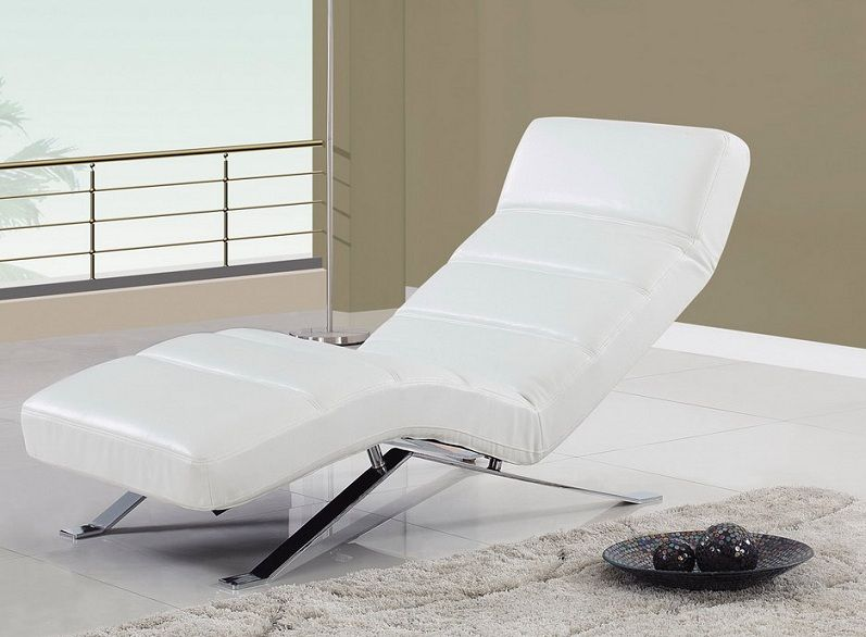 Relax chaise with metal feet and color options washington for Chaise design coloree