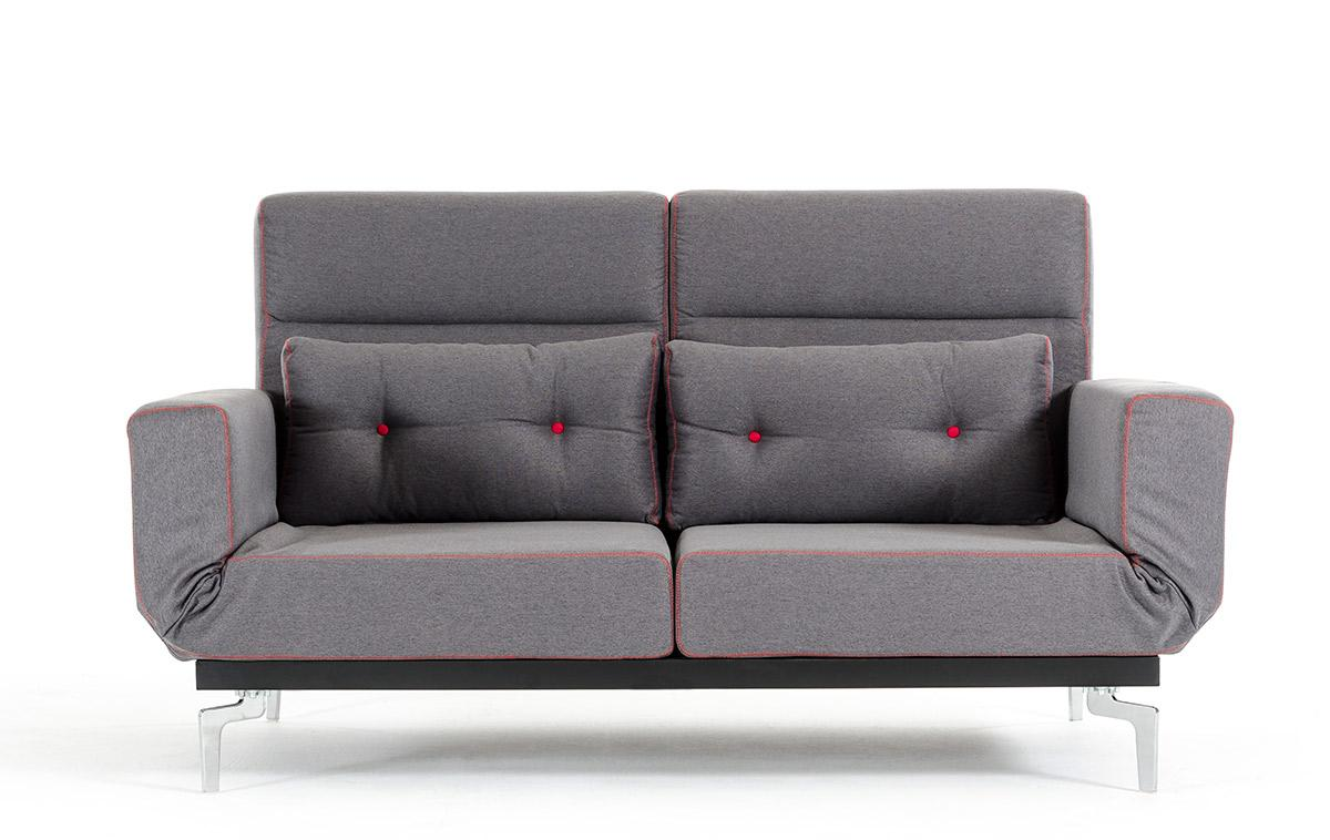 Grey Fabric Contemporary Convertible Sofa Bed Lincoln Nebraska VBRO