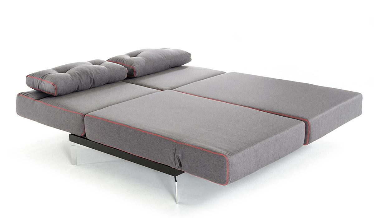 Pleasing Grey Fabric Contemporary Convertible Sofa Bed Home Remodeling Inspirations Gresiscottssportslandcom