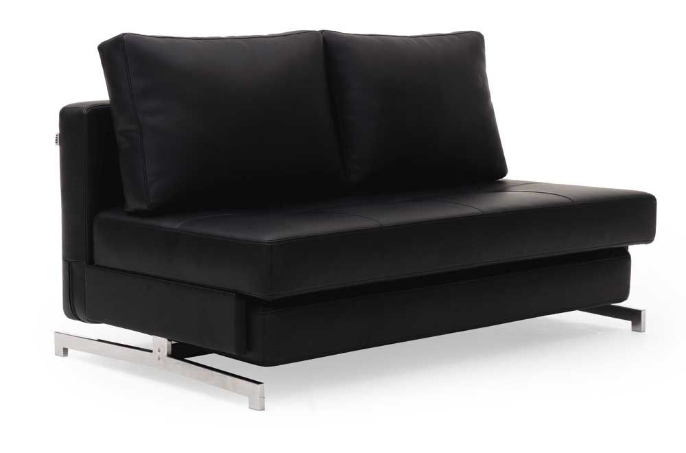 Leather Textile Contemporary Sofa Bed With Steel Frame