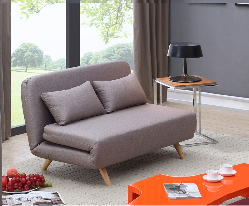 Convertible And Sleeper Sofabeds, Stylish Accessories. Unique Taupe Microfiber  Sofa ...