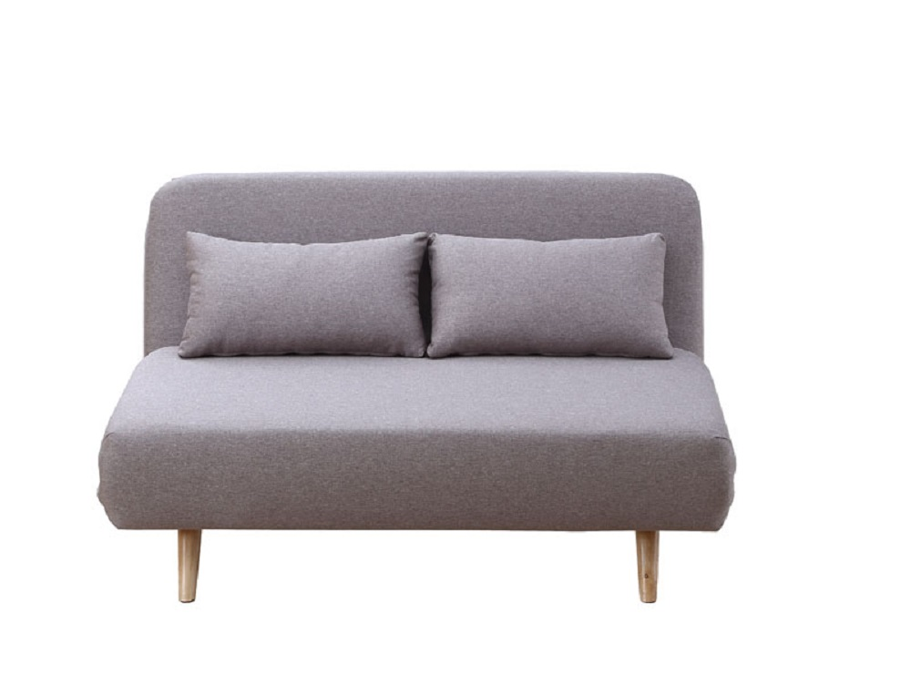 Unique Taupe Microfiber Sofa Sleeper With Lunge And Bed Features Larger  Image