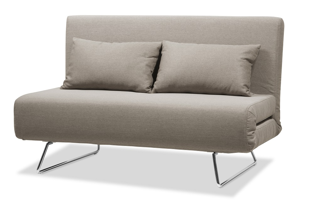 Pleasing Unique And Contemporary Taupe Microfiber Folding Sofa Bed With Pillows Squirreltailoven Fun Painted Chair Ideas Images Squirreltailovenorg