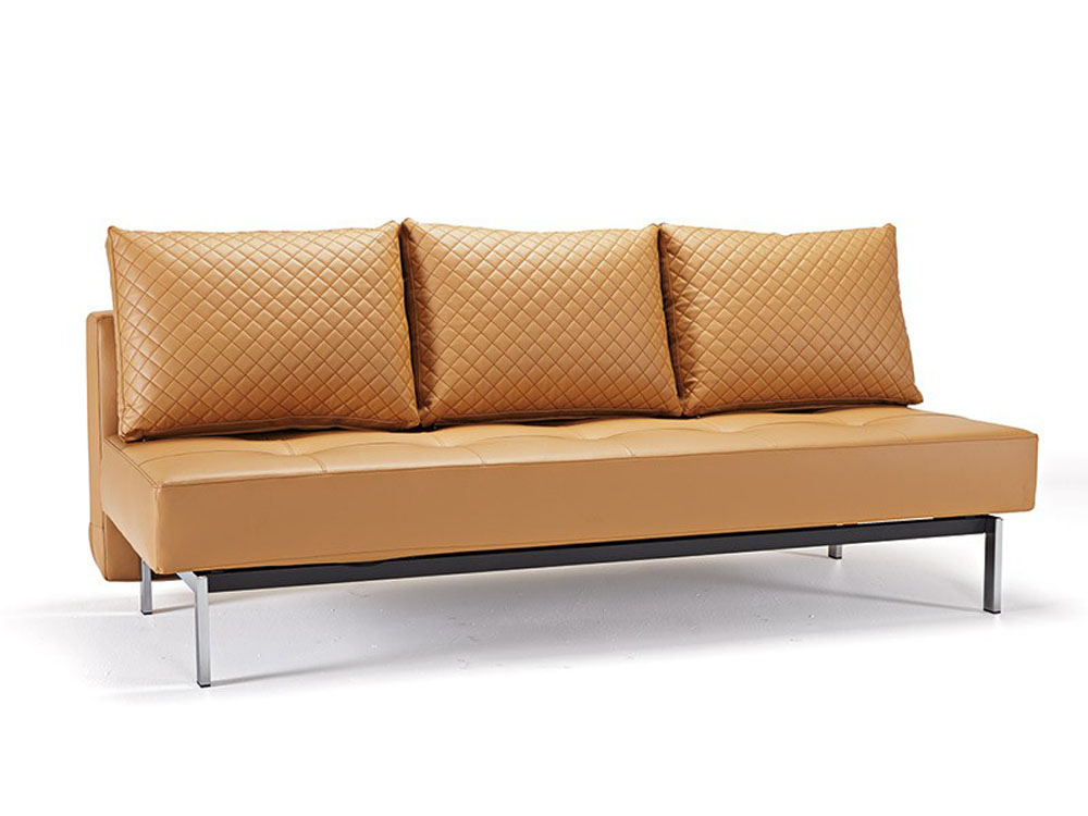 Deluxe contemporary camel leather sofa bed buffalo new york innslyq Contemporary leather sofa