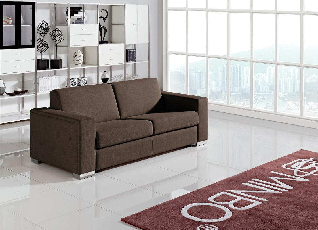 Contemporary Brown Fabric Sofa Bed Jersey New Jersey Vmin