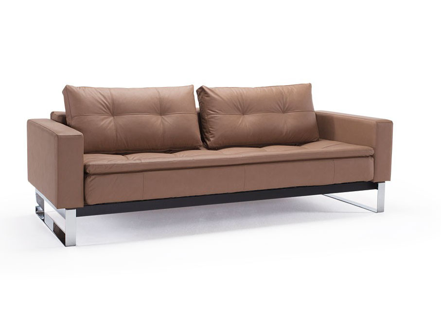 contemporary sofa bed with arms wapped in fabric or