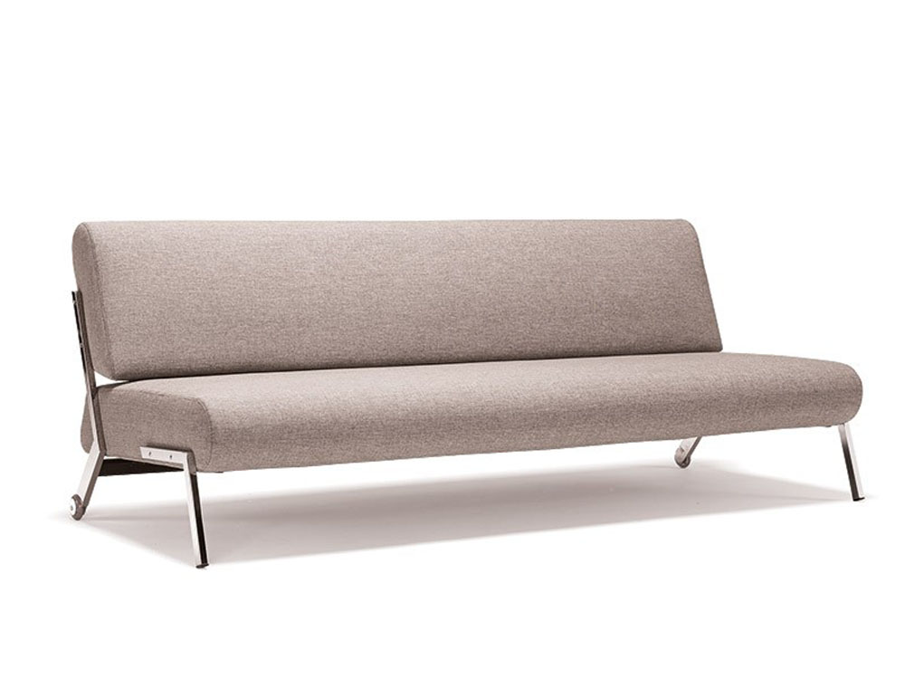 Contemporary light fabric contemporary sofa bed with chrome legs cincinnati ohio inndeb Couches bed