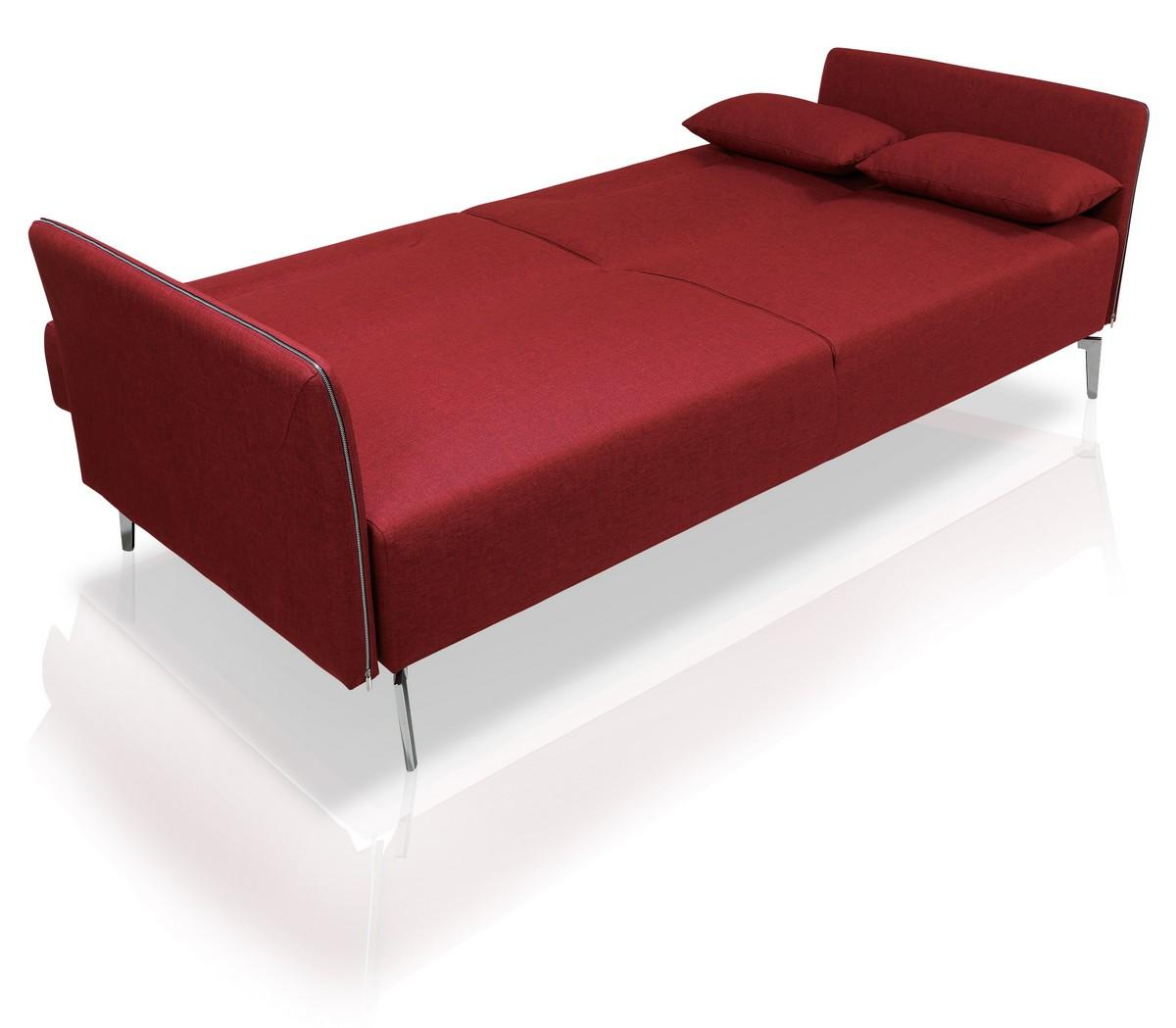 superb contemporary red fabric single convertible sofa bed birmingham