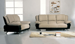 Home page. Modern leather sofa and chair
