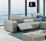 Luxury footrest leather couches and reclining sectionals