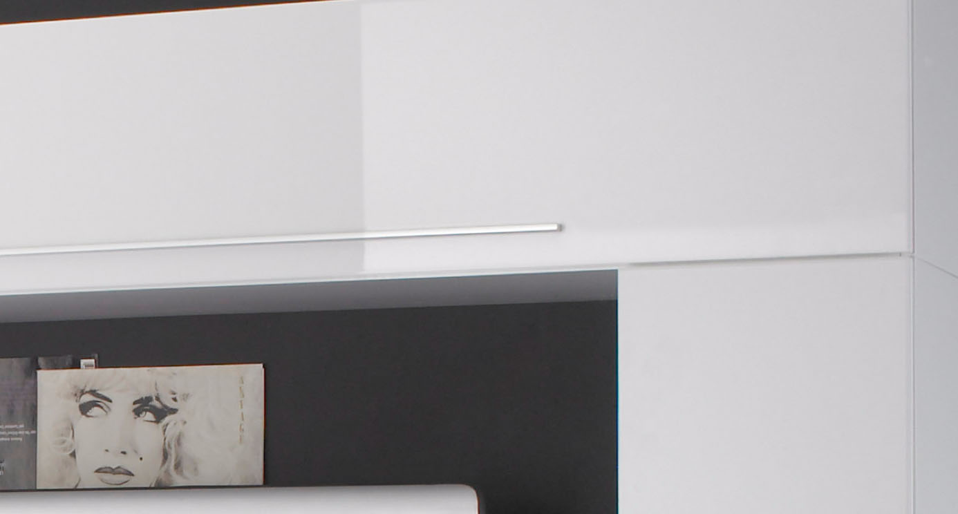 White Finish Contemporary Wall Unit from Italy San Diego