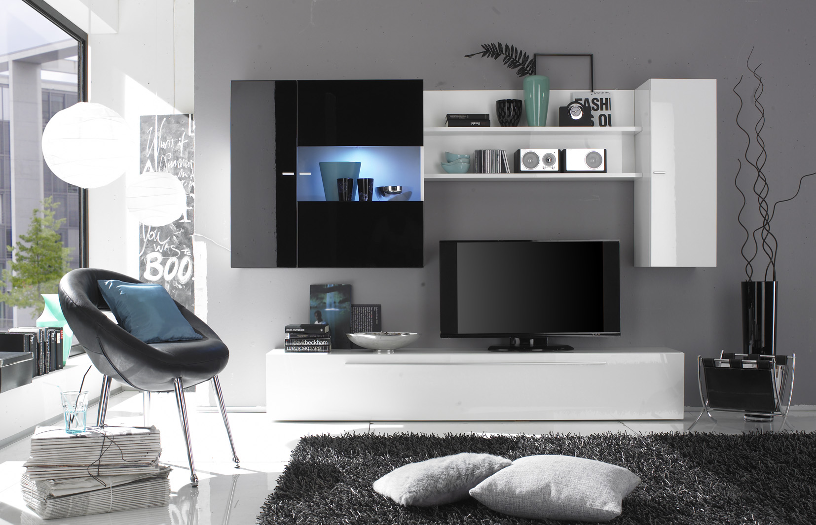 Contemporary TV Storage Unit