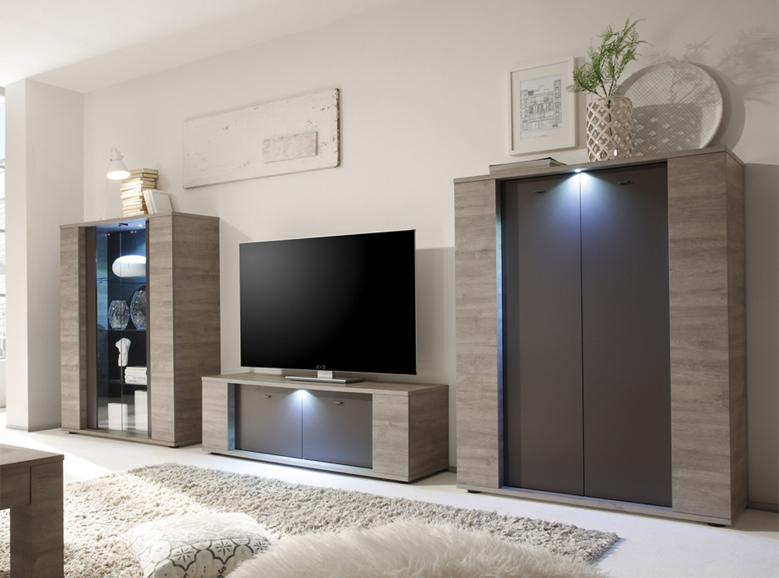 Contemporary Two Toned Wall Unit Designed in Italy Laredo